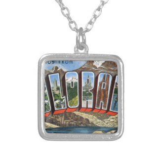 Greetings From Colorado Silver Plated Necklace
