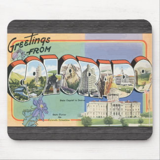 Greetings From Colorado, Vintage Mousepad