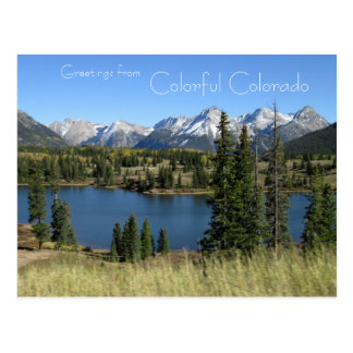 Greetings from Colourful Colorado Postcard
