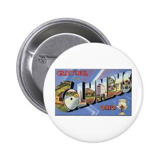 Greetings from Columbus, Ohio 6 Cm Round Badge