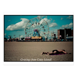 Greetings from Coney Island! Postcard