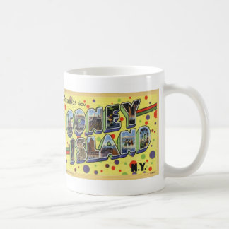 Greetings from Coney Island Vintage Postcard Mug