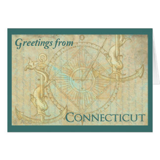 Greetings from Connecticut Card