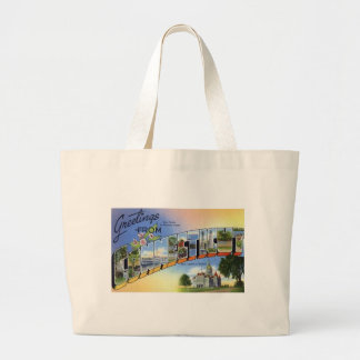 Greetings From Connecticut Large Tote Bag