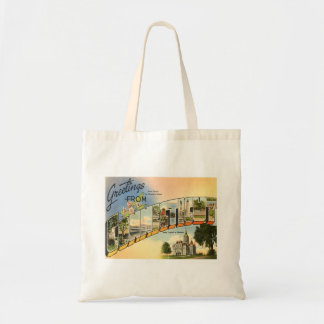 Greetings From Connecticut Budget Tote Bag