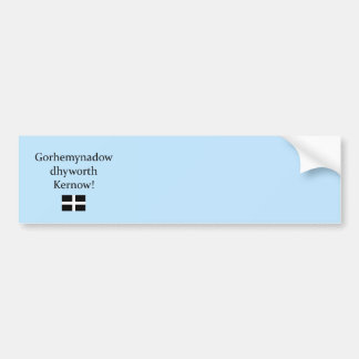Greetings from Cornwall in Cornish Language Bumper Sticker