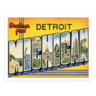 Greetings From Detroit Michigan Postcard