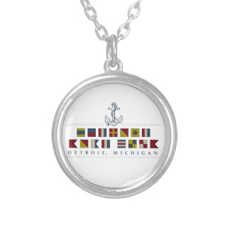 Greetings from Detroit Silver Plated Necklace