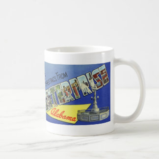 Greetings from Enterprise AL Vintage Postcard Mug