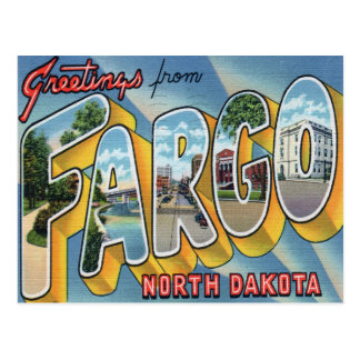 Greetings from Fargo Postcard