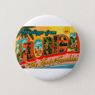Greetings From Florida 6 Cm Round Badge