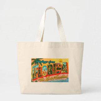 Greetings From Florida Large Tote Bag