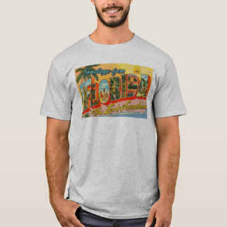 Greetings From Florida Postcard Men's T-Shirt