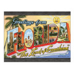 """Greetings From Florida """"The Land Of Sunshine"""", Vin Postcard"""