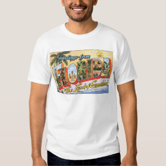 """Greetings From Florida """"The Land Of Sunshine"""", Vin T-shirt"""