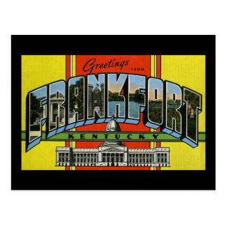 Greetings from Frankfort Kentucky Postcard