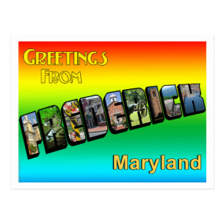 Greetings From Frederick Postcard