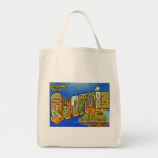 Greetings From Georgia Canvas Bag