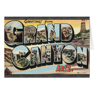 Greetings From Grand Canyon Ariz., Vintage Greeting Card
