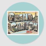 Greetings From Grand Canyon Arizona Round Stickers