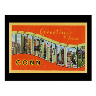 Greetings from Hartford Connecticut Postcard