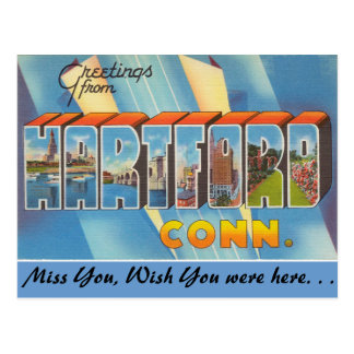 Greetings from Hartford Postcard