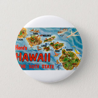 Greetings From Hawaii 6 Cm Round Badge
