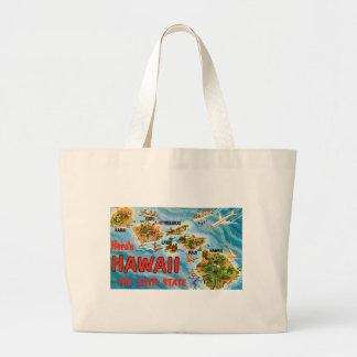 Greetings From Hawaii Large Tote Bag