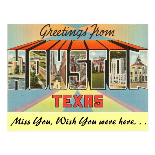 Greetings from Houston Post Cards