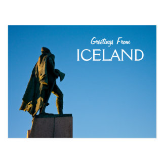 Greetings From Iceland Postcard