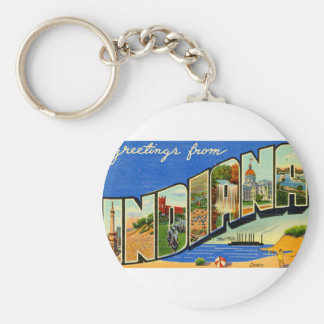 Greetings From Indiana Key Ring