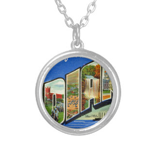 Greetings From Indiana Silver Plated Necklace