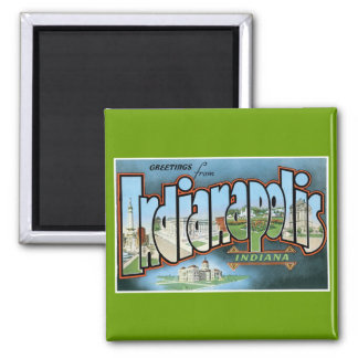 Greetings from Indianapolis, Indiana! Square Magnet