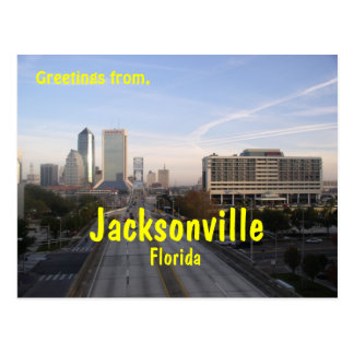 Greetings from Jacksonville Florida, post card