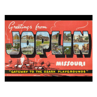 Greetings from Joplin Postcard