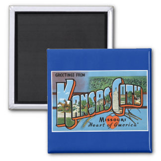 Greetings from Kansas City! Square Magnet
