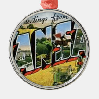Greetings from Kansas Metal Ornament