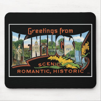 Greetings from Kentucky Historic Romantic Vintage Mouse Pad