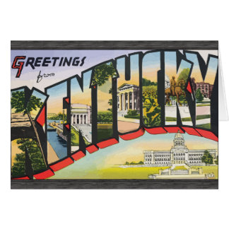 Greetings From Kentucky, Vintage Greeting Card