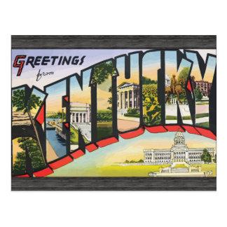 Greetings From Kentucky, Vintage Postcard
