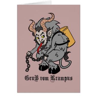 Greetings from Krampus in Grey Card