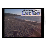 Greeting's from Lake Erie Ohio Beach Greeting Card