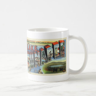 Greetings from Lake Sunapee Vintage Postcard Mug