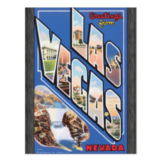 Greetings From Las Vegas Nevada, Vintage Postcard