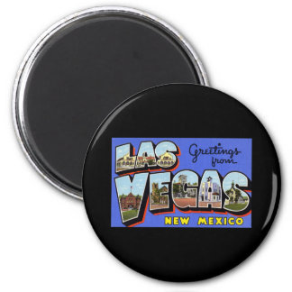 Greetings from Las Vegas New Mexico 6 Cm Round Magnet