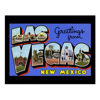 Greetings from Las Vegas New Mexico Postcard