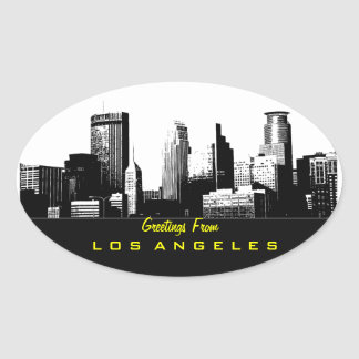 Greetings From Los Angeles Sticker