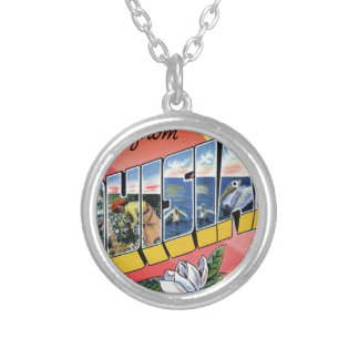 Greetings From Louisiana Silver Plated Necklace