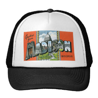 Greetings from Madison, Wisconsin! Mesh Hat