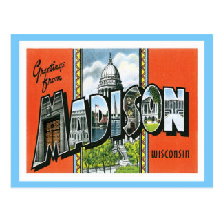 Greetings From Madison Wisconsin US City Postcard
